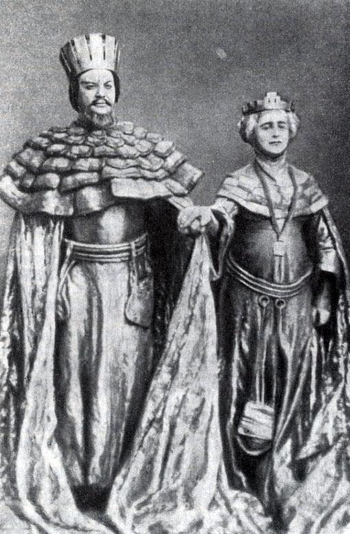'Гамлет' (1911 г.). Король - Н. Массалитинов, Королева - О. Книппер-Чехова