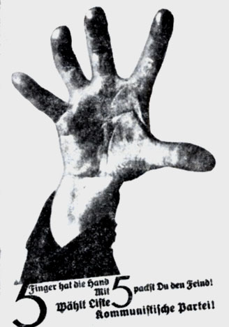 Фотоплакат Джона Хартфилда. 1928 г.