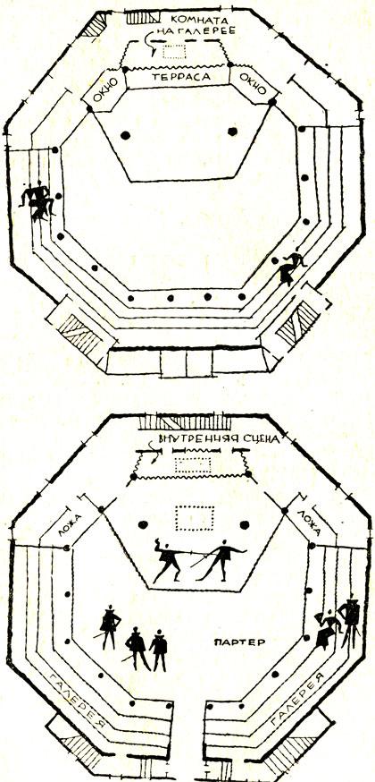 План театра 'Глобус'.